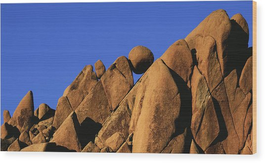 Marble Rock Formation Pano Wood Print