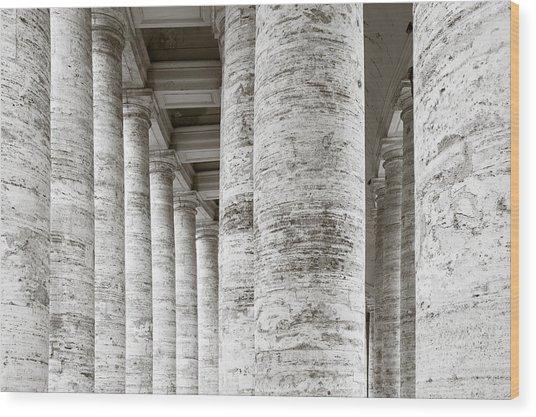 Marble Roman Columns Wood Print