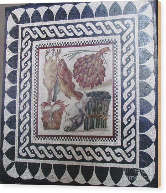 Marble Tile  Wood Print