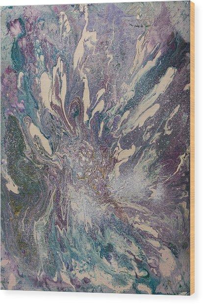 Marbled Paisley I Wood Print