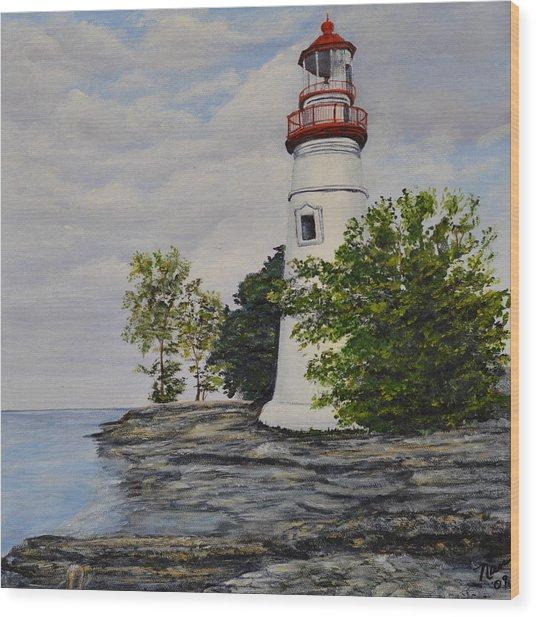 Marblehead Light House On Lake Erie Wood Print