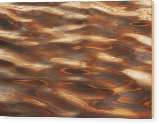 Marbleized Waters Wood Print