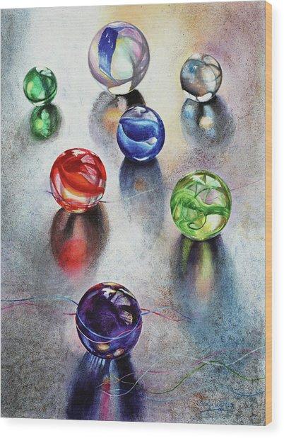 Marbles 1 Wood Print