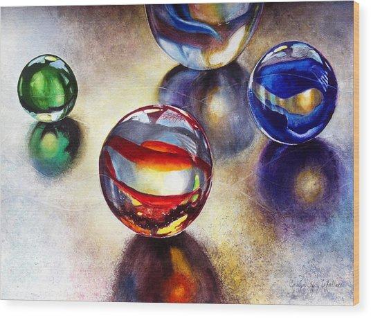 Marbles 2 Wood Print