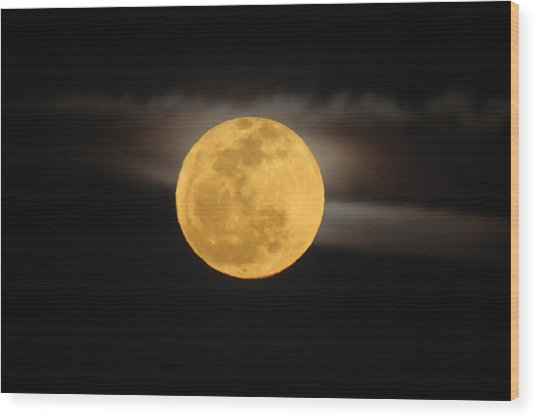 March Full Moon Wood Print
