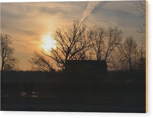 March Sunrise1 Wood Print by Jennifer  King