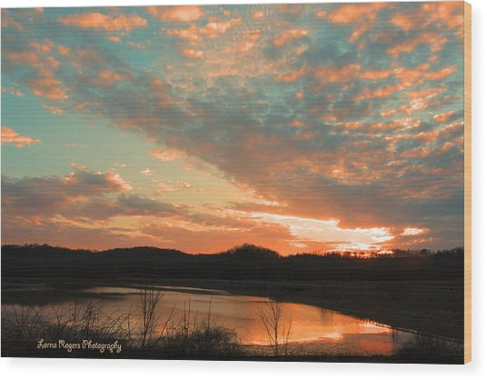 March Sunset With Signature Wood Print