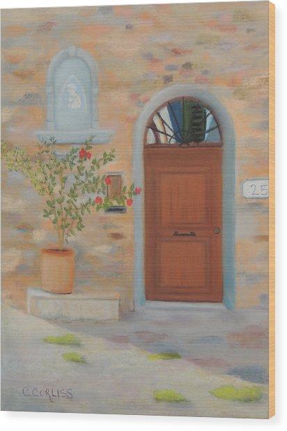 Marcialla Courtyard Wood Print