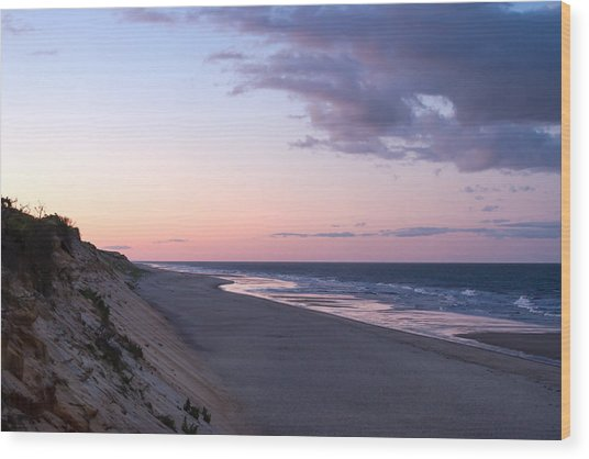 Marconi Beach At Dusk Wood Print