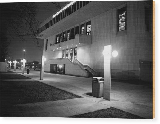 Marcus Center For The Performing Arts Wood Print by Ricky L Jones