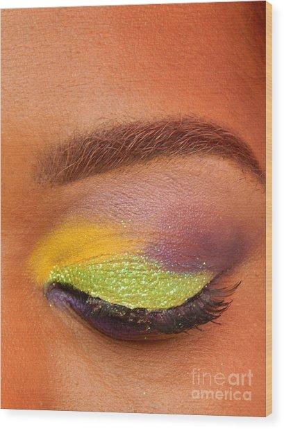 Mardi Gras 2014 Eye See Colors Of Mardi Gras Wood Print