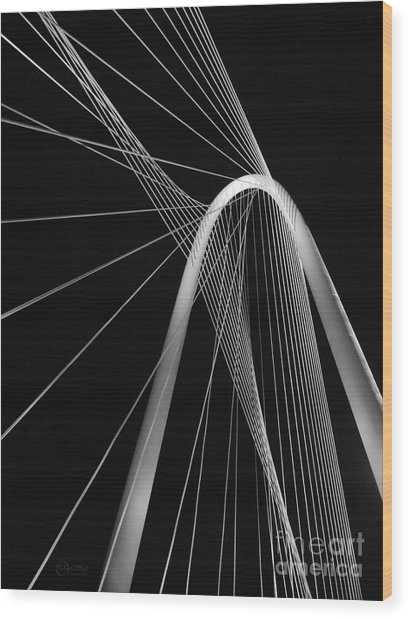 Margaret Hunt Hill Bridge Dallas Texas Wood Print