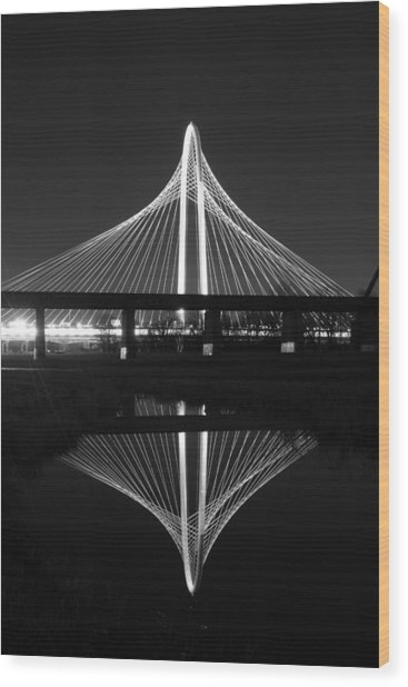 Margaret Hunt Hill Bridge Reflection Wood Print