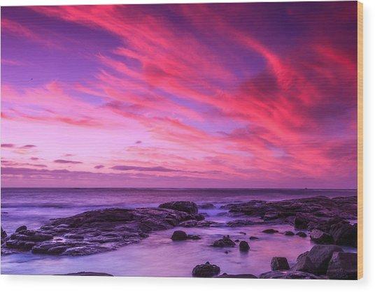 Margaret River Sunset Wood Print