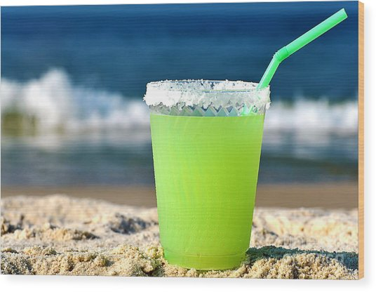 Margarita On The Beach Wood Print
