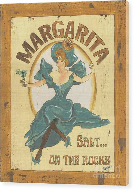 Margarita Salt On The Rocks Wood Print