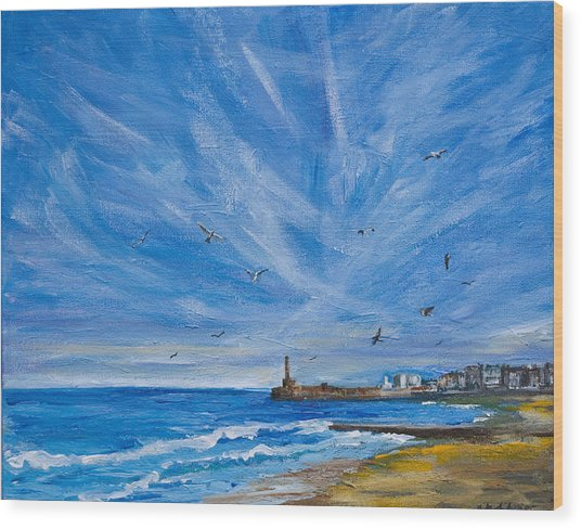 Margate Skies Wood Print