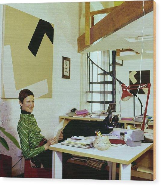 Margit Rowell At Home Wood Print
