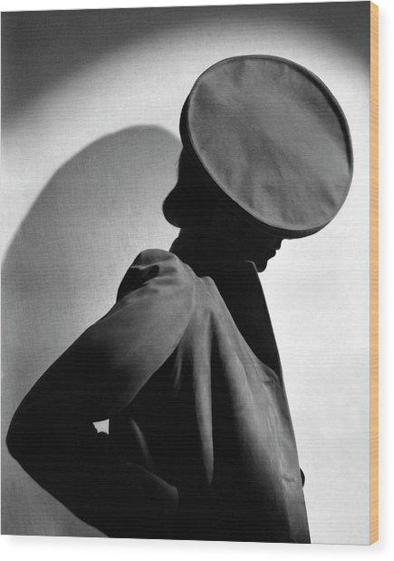 Margot Gaylor Wearing A Schiaparelli Beret Wood Print