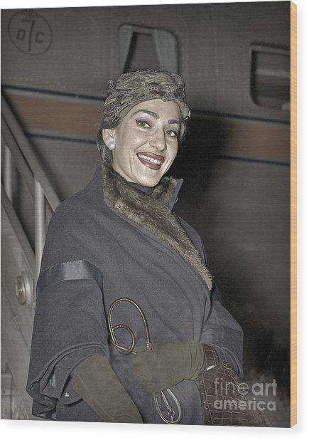 Maria Callas Opera Diva Wood Print