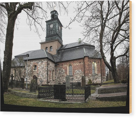 Maria Church Enkoeping From South Leif Sohlman Wood Print