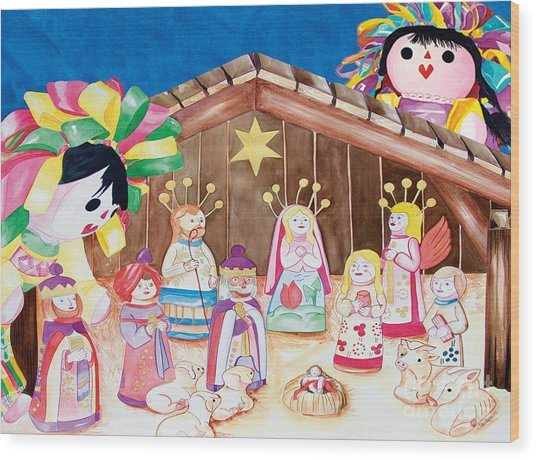 Maria Sofia And The Nativity Wood Print