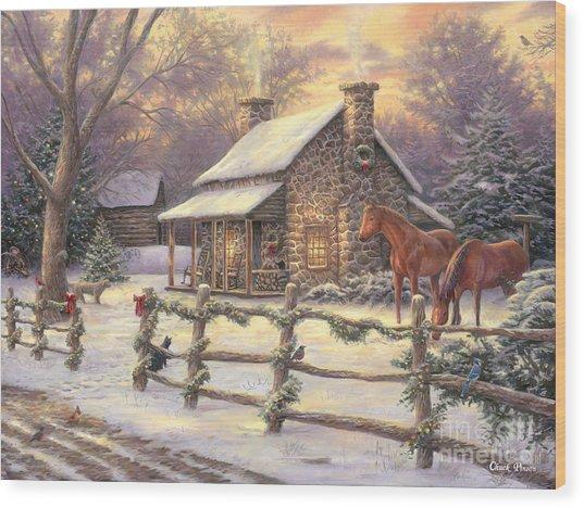 Marianne's Winter Hideaway Wood Print
