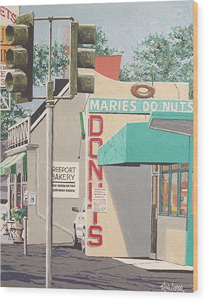 Marie's Donuts Wood Print by Paul Guyer
