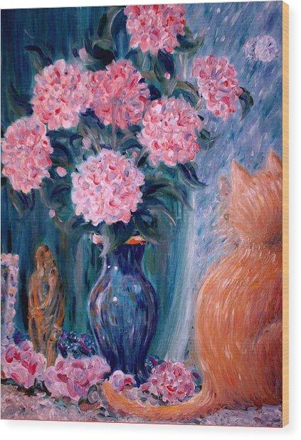 Marigold At The Window Wood Print