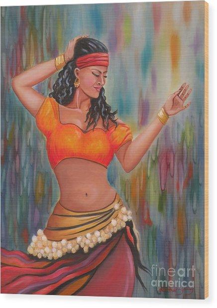 Marika The Gypsy Dancer Wood Print