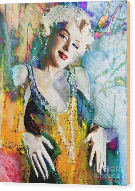 Marilyn Monroe 126 E Wood Print
