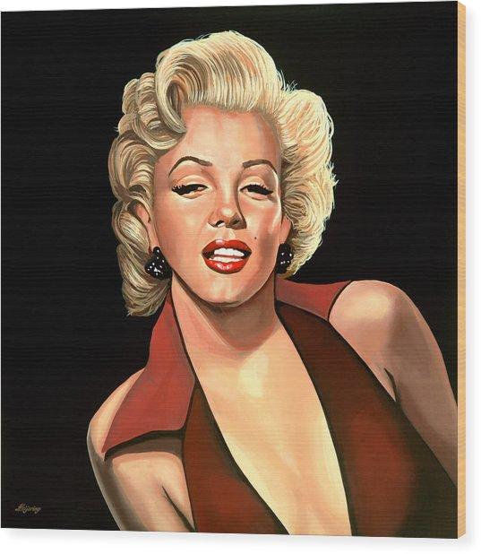 Marilyn Monroe 4 Wood Print