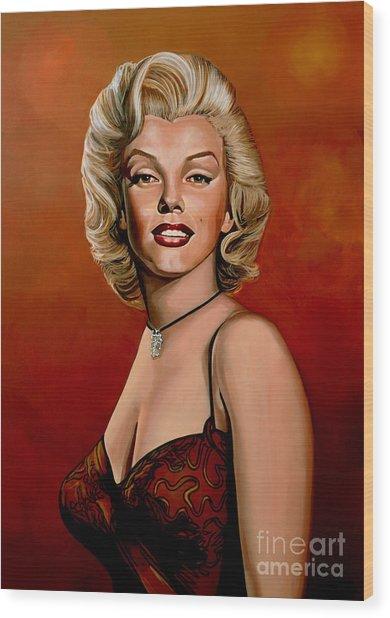 Marilyn Monroe 6 Wood Print
