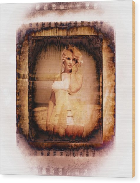 Marilyn Monroe Film Wood Print