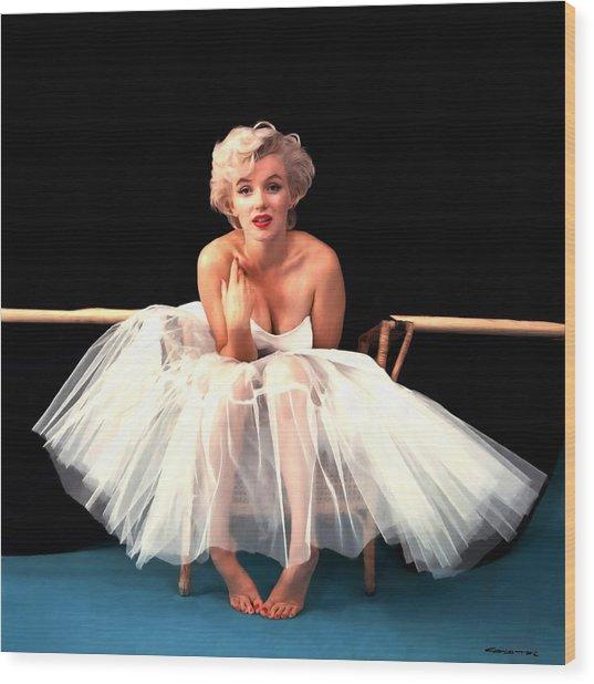 Marilyn Monroe Portrait Wood Print