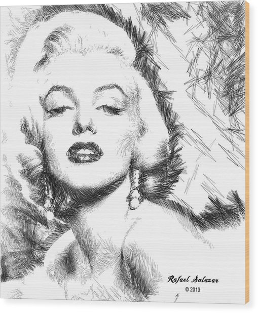 Marilyn Monroe - The One And Only  Wood Print