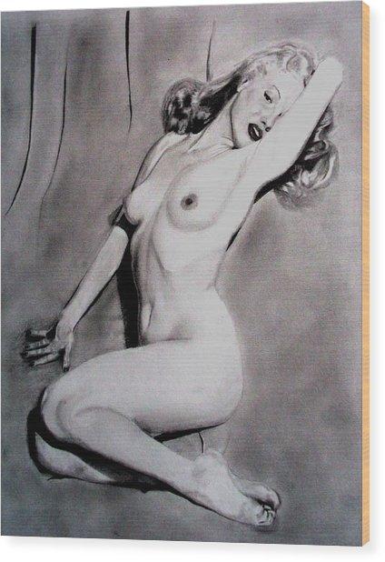 Marilyn-nude Wood Print