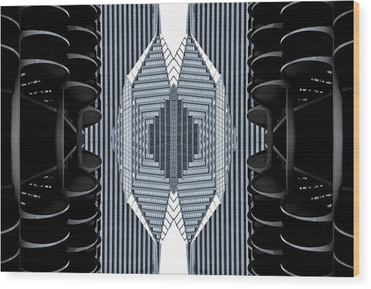 Marina Abstraction Wood Print