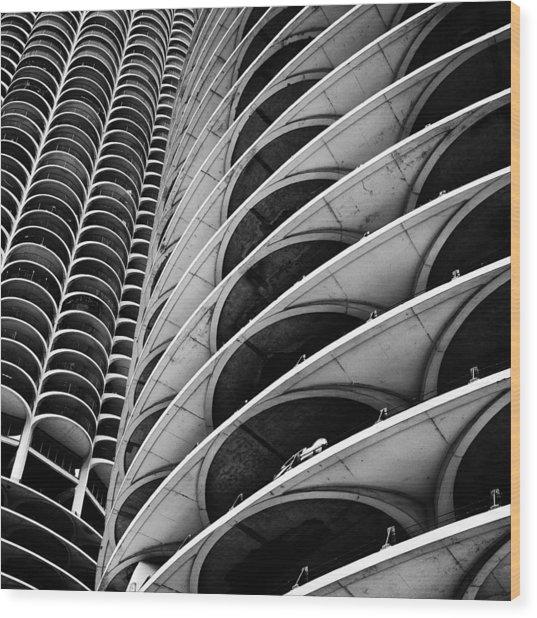 Marina City - Chicago 3 Wood Print