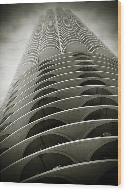 Marina City Chicago Il Wood Print