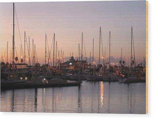 Marina Sunrise 12 Wood Print