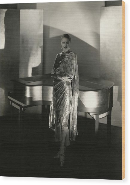 Marion Morehouse By A Piano Wood Print