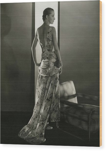 Marion Morehouse Wearing A Louiseboulanger Dress Wood Print