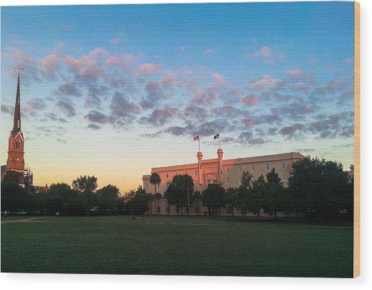 Marion Square Sunrise Wood Print