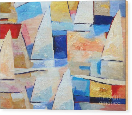 Maritime Regatta Wood Print