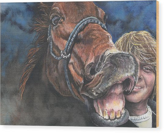 Mark And Shady..a Selfie Wood Print by Kim Sutherland Whitton