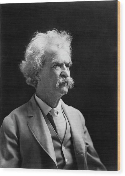 Mark Twain Wood Print by Library Of Congress