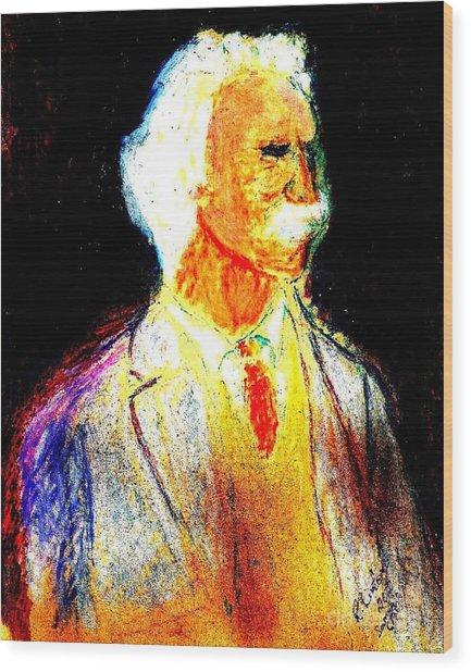 Mark Twains Yellow Vest 1 Wood Print