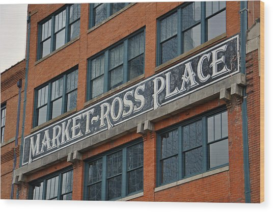 Market Ross Place Dallas Texas Wood Print