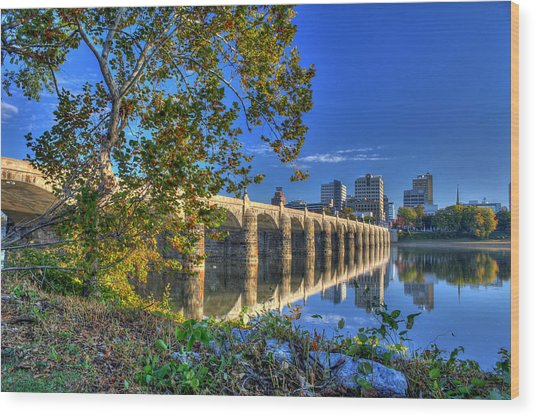 Market Street Bridge Wood Print
